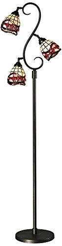 Dale Tiffany TF12408 Fall River 3-Light Floor Lamp, 14.0