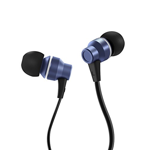 Earbuds, HokoAcc In-Ear Headphones Noise Isolation Headsets Heavy Bass Earphones with Microphone for iPhone Samsung iPad and Most Android Phones