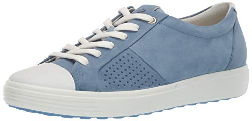 ECCO Women's Women's Soft 7 Sneaker Retro Blue Cap Toe 40 M EU (9-9.5 US)