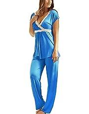 Pajama - turquoise color - cotton - women , 2725618639982