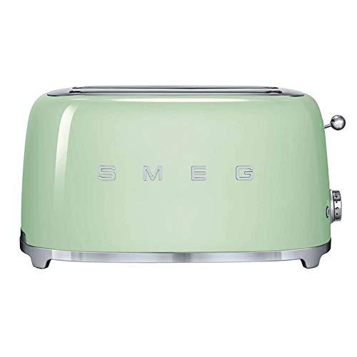 Smeg TSF02PGUS 50s Retro Style Aesthetic 4 Slice Toaster, Pastel Green