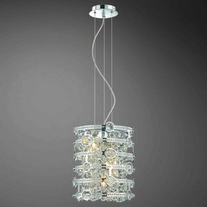 (Eurofase 20390-013 Mica 3-Light Pendant, Chrome)
