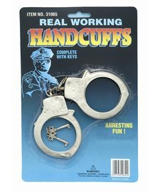 Forum Novelties Party Supplies Real Working Handcuffs with Keys