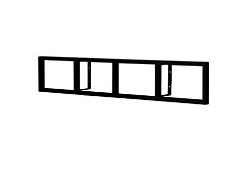 (Modern Wall Mount Cd DVD Media Rack Storage Metal Shelf Organizer (Black))