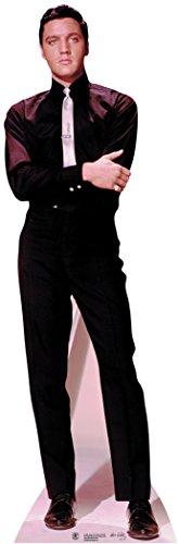 Elvis Presley Cardboard Cutout Standup Black Shirt and Tie ()