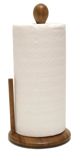 lipper-international-8838-bamboo-collection-standing-paper-towel-holder