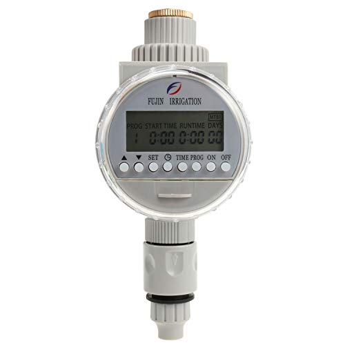 Phapyness Garden Watering Solar Water Timer Automatic Watering Irrigation Controllers System LCD Digital Irrigation Timer,Gray