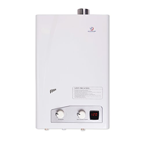 Eccotemp FVI12-LP Liquid Propane Gas Tankless Water Heaters, White