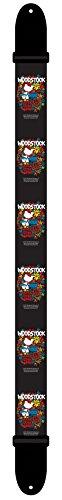 Perris Leathers LPCP-8132 Woodstock Guitar Strap, Peace Love Music-Black