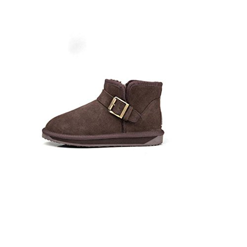cotton 42 snow shoes tube flat Short warm boots Winter Padded BROWN 40qFSfw