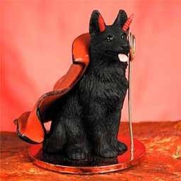 German Shepherd Little Devil Dog Figurine - ()