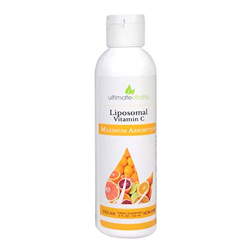 Liposomal Encapsulated High Dose Vitamin C Liquid Supplement 1000mg with 400 mg phosphatidylcholine- - Vegan Non GMO Soy Free - 30 Servings