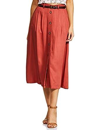 Amazon Brand - Symbol Rayon Pleated Skirt
