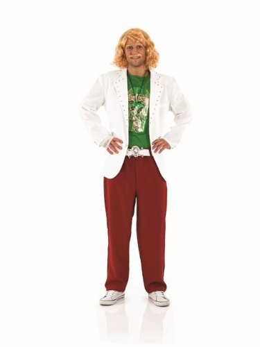 Celebrity Costumes Party City (Keith Lemon Celebrity Juice Male Fancy Dress Costume - Size M (UK 38-40) by Parties Unwrapped)