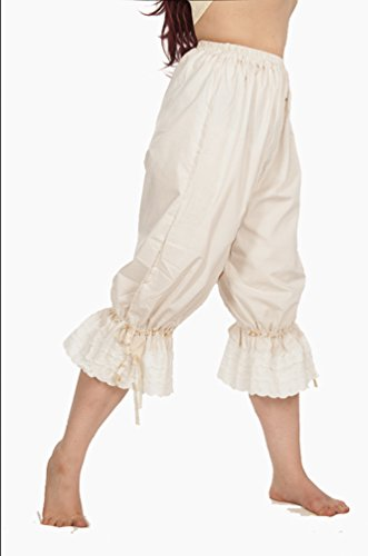 Dress Like A Pirate Wench Renaissance Steampunk Cotton Bloomers (Large, Snow White) (Steampunk Snow White Costume)