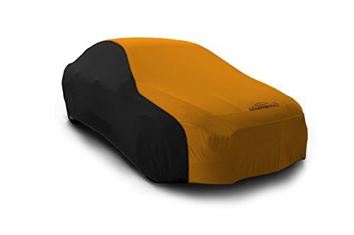 Coverking Custom Fit Car Cover for Select Austin Healey Sprite Models - Satin Stretch (Rust Orange with Black Sides)