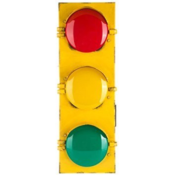 - Nikkycozie Traffic Flashing Light Wall Decor Distressed Metal Base Fun Room New