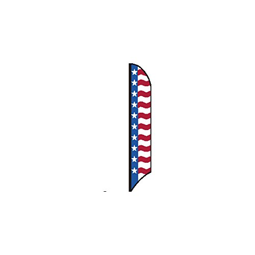 Patriotic Feather Flag, Red/White/Blue, 15'
