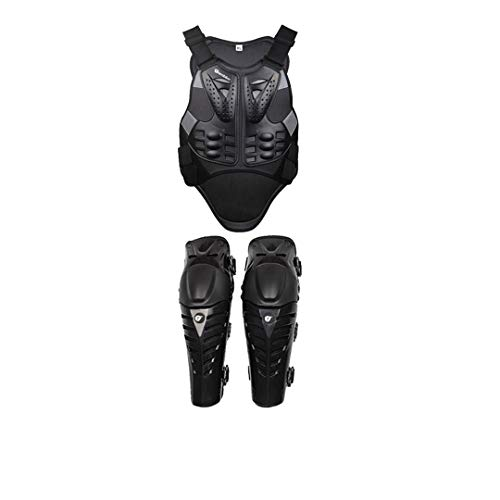 Motorcycle Body Armor Protection Motorcycle Jacket+Shorts Pants+Protective Gear Knee Pads+Gloves Black B2K Set XXL