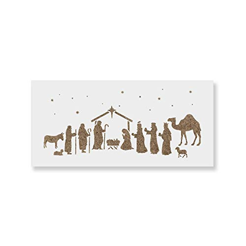 Nativity Stencil - DIY Stencils That Work Great for Wood Signs and DIY Craft Projects]()
