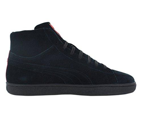 Puma Suede Mid Wog da uomo in camoscio nero alto con lacci scarpe
