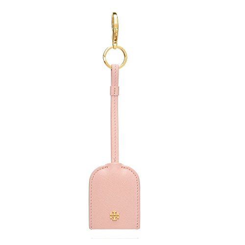 Tory Burch Cheers Leather Key FOB, Indian - Burch Rose