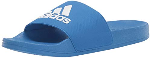 adidas Unisex Adilette Shower, White/True Blue, 12K M US Little Kid ()