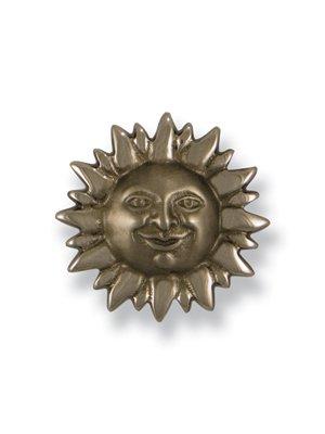 Smiling Sunface Doorbell Ringer - Nickel Silver