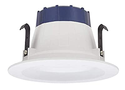 (Pack of 2) Sylvania 74286 - LED/RT4/600/930/FL80-, 4 Inch LED Recessed Can Retrofit Kit, 600 Lumens, 9 Watts, 120 Volts, 3000k, 90 CRI, Dimmable, Includes Medium Base Adapter