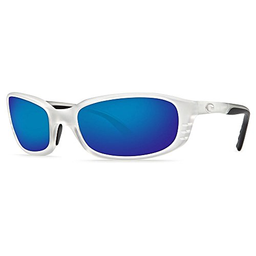 Costa Del Mar Sunglasses - Brine- Glass / Frame: Matte Crystal Lens: Polarized Blue Mirror 400 - Costa Glasses Frames