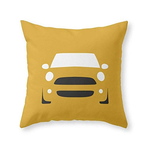 Funy Decor Mini Cooper (2007) Decorative Square Throw Pillow Covers Cushion Cases Pillowcases for Sofa Bedroom Car18 x 18 inch 45 x 45 cm
