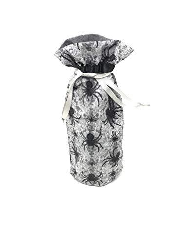 Halloween Gray Spider Wine Bottle Drawstring Gift Bag]()