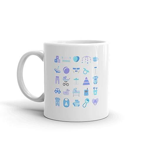 - Baby Boy Icons Set Mug 11 Oz Ceramic