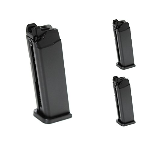 Airsoft Shooting Gear APS 3pcs 23rd Top Gas Turbo Magazine for Marui/APS DRAGONFLY D-MOD GBB Pistol by Airsoft Shopping Mall
