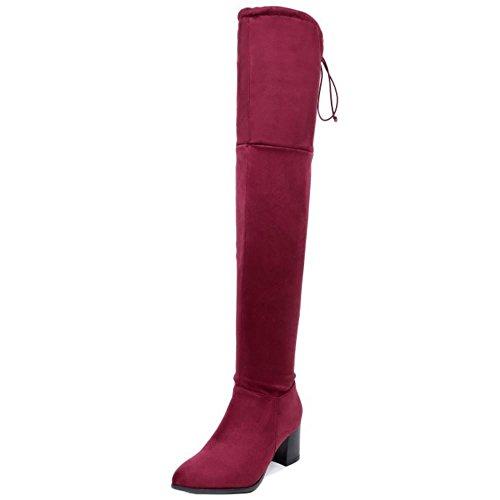 Red Zipper Boots Women Half COOLCEPT HqIzfx8c