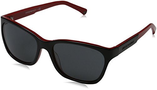 Red On Armani Sonnenbrille Top 506187 EA4004 Emporio Black xpOYwvnq