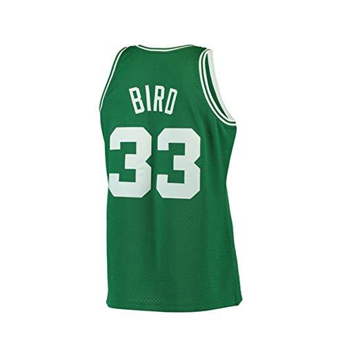 Mens Bird Jersey 33 Basketball Road Athletics Larry Boston Stitched Throwback Green (Green, Medium)