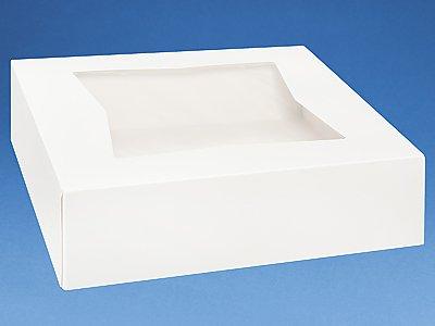 Cakesupplyshop Superior Quality CJK2W - 10x10x2.5 PIE Cake Cupcake Carry Window Boxes - 25pack