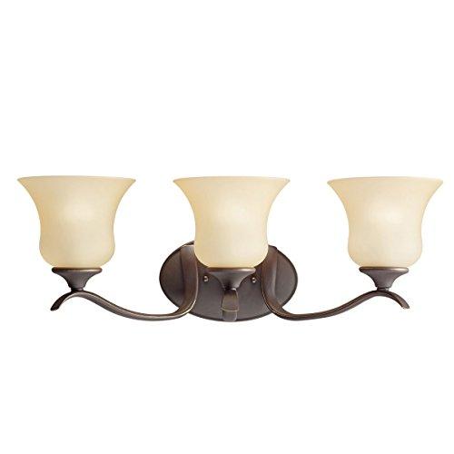 Olde Bronze 23.5in. Wide 3-Bulb Bathroom Lighting Fixture
