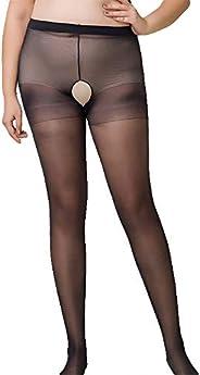Womens Pantyhose Stockings Women Tights Stockings Lady Sheer Stockings Silky Nylon Black Plus