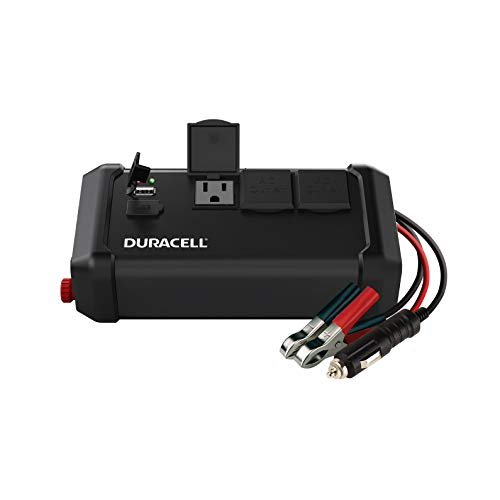 (Duracell DRINV400 High Power Tailgate Inverter 400 Watt Peak 320W Continuous, 12v DC Input Includes 2 AC Outlets (115V) Plus 2.4 Amp USB (5V) (Renewed) )