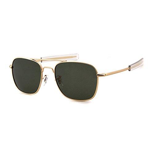 Aviator anteojos de sol polarizadas para hombres mujeres cuadrado ... 6c7c4caa0f90