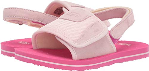 UGG Unisex T Beach Sandal, Seashell Pink, 12 M US Little Kid -