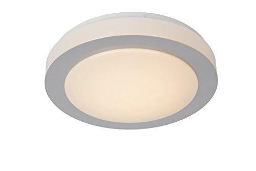 Lucide DIMY – Plafonnière Badkamer – Ø 28,6 cm – LED Dimb. – 1x12W 3000K – IP21 – Mat chroom