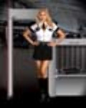 Adult Tsa Officer Costumes (Strip Search Officer Tara U Clothes Off Adult Costume - Plus Size 3X/4X)