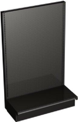 Lozier Store Fixtures TVWED36016SAA8 3 ft. x 60 in. x 16 in. Bronze End Cap (Store Fixtures Lozier)
