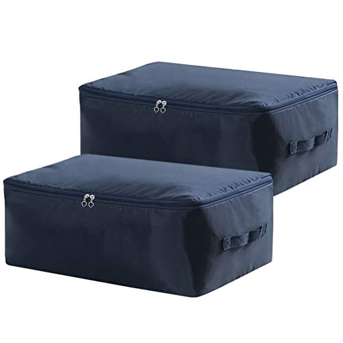 (Lifewit 2 Pack 105L Large Capacity Under Bed Storage Bag, Thick Oxford Fabric Clothes Storage Bags for Comforters, Blankets, Duvets, Clothes, Quilts, Pillows, Sweaters, Bedding)