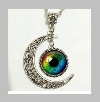 Amazon rainbow eyethird eyeevil eye charm rainbow eyethird eyeevil eye charmmoon mozeypictures Image collections