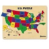 : Learning Resources Woodshop Toys U.S. Map Puzzle