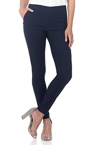 Rekucci Women's Ease in to Comfort Modern Stretch Skinny Pant w/Tummy Control (12,Navy)